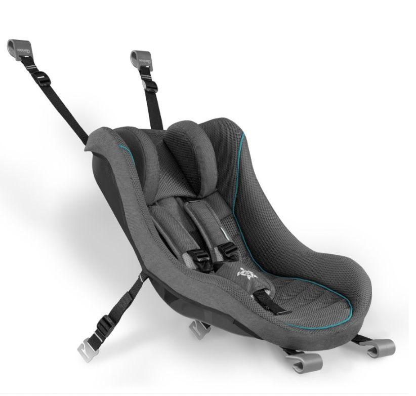 Qeridoo® Babyschale dunkelgrau für Kinderfahrradanhänger in Dunkelgrau für 98,03€ (statt 109€)