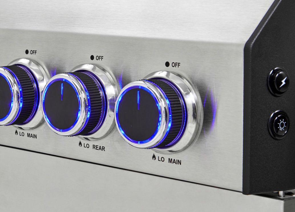 TAINO Platinum 4+2 Gasgrill Set aus Edelstahl inkl. Haube 529,90€ (statt 579€)