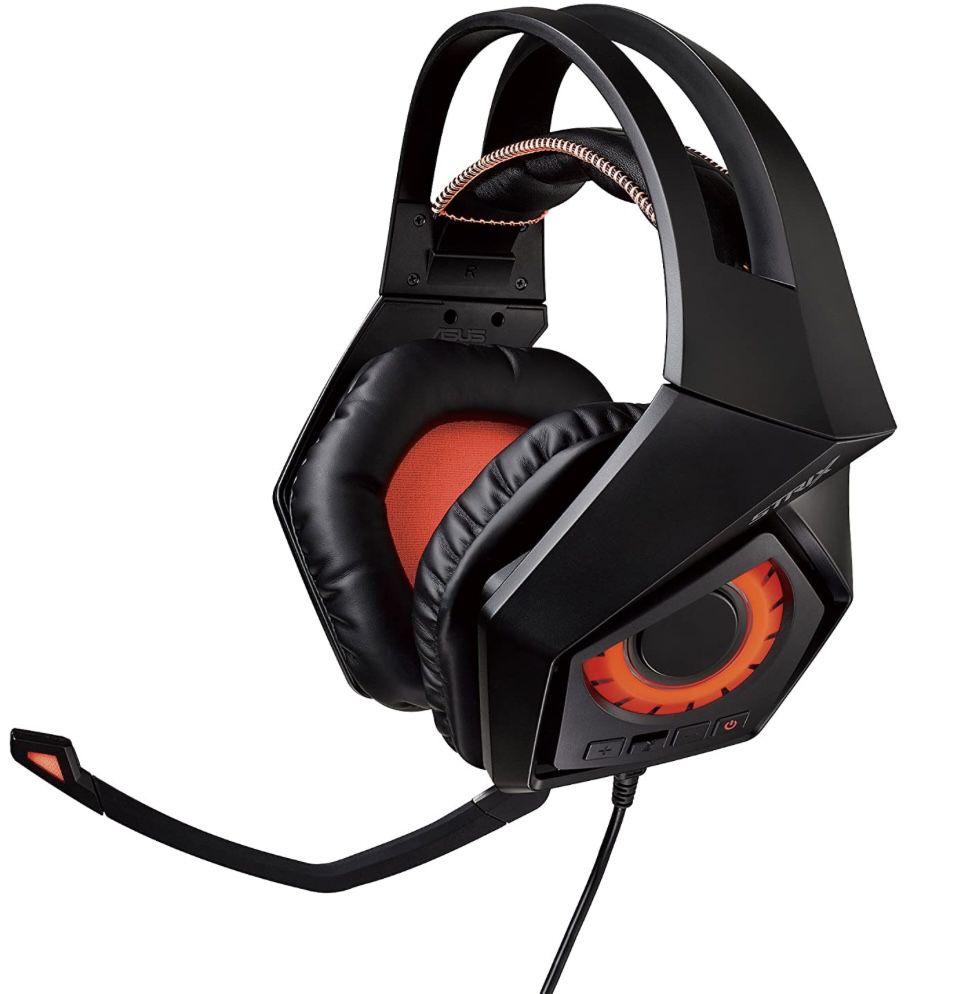 Asus ROG Strix Gaming Headset in Schwarz/Rot für 79,99€ (statt 119€)
