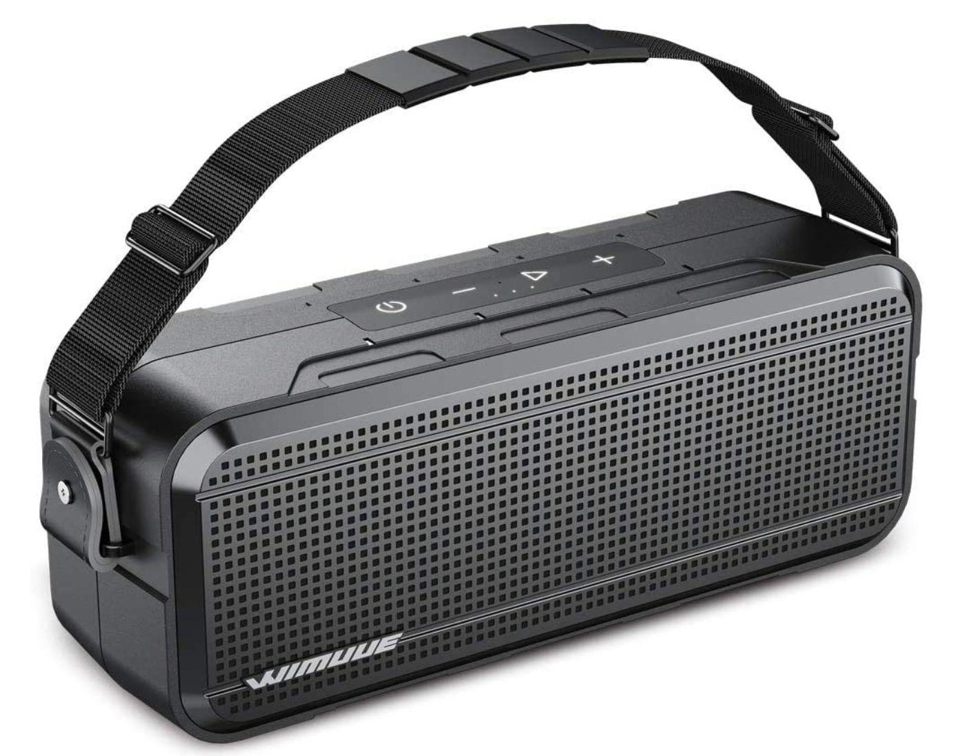 WIMUUE 40W Bluetooth Lautsprecher mit integrierter 8000mAh Powerbank für 32,99€ (statt 66€)
