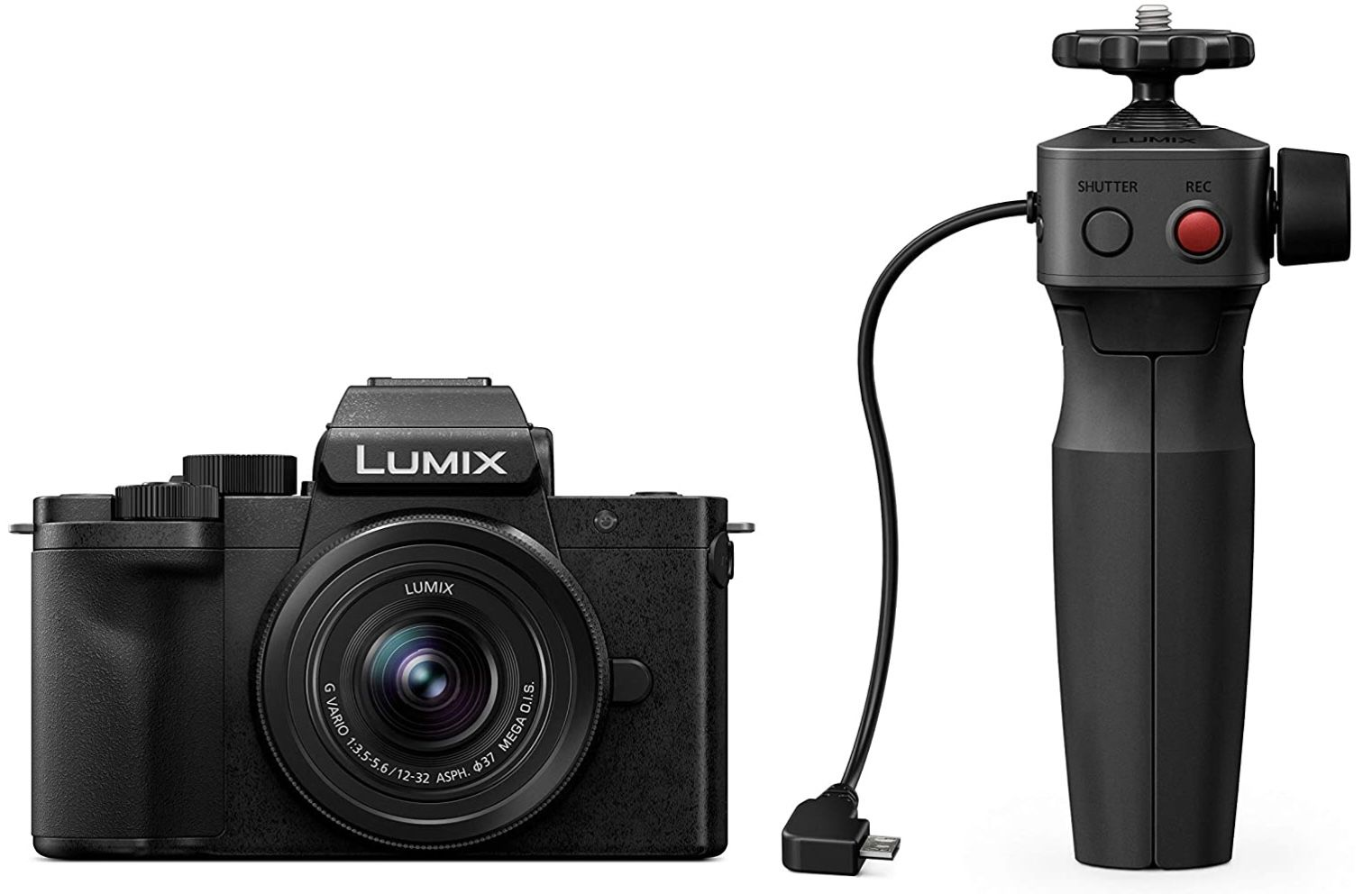 Panasonic Lumix DC G110VEG K Systemkamera mit 20 MP und 12 60mm Objektiv + DMW SHGR1 Handgriff für 503,85€ (statt 619€)