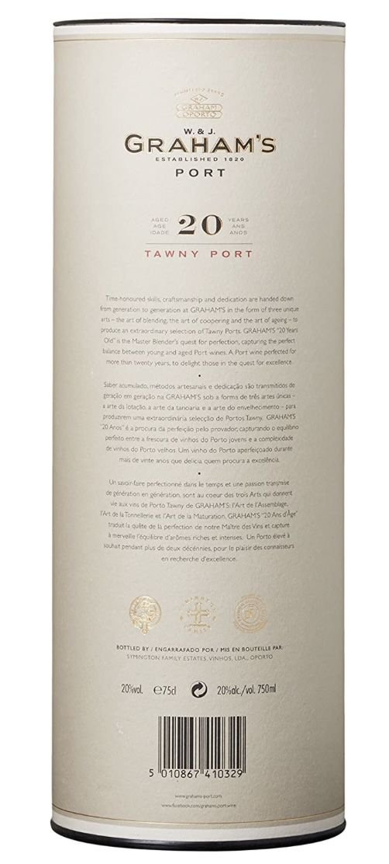3 x 0,75l Grahams Tawny Port 20 Years Portwein für 100€ (statt 123€)