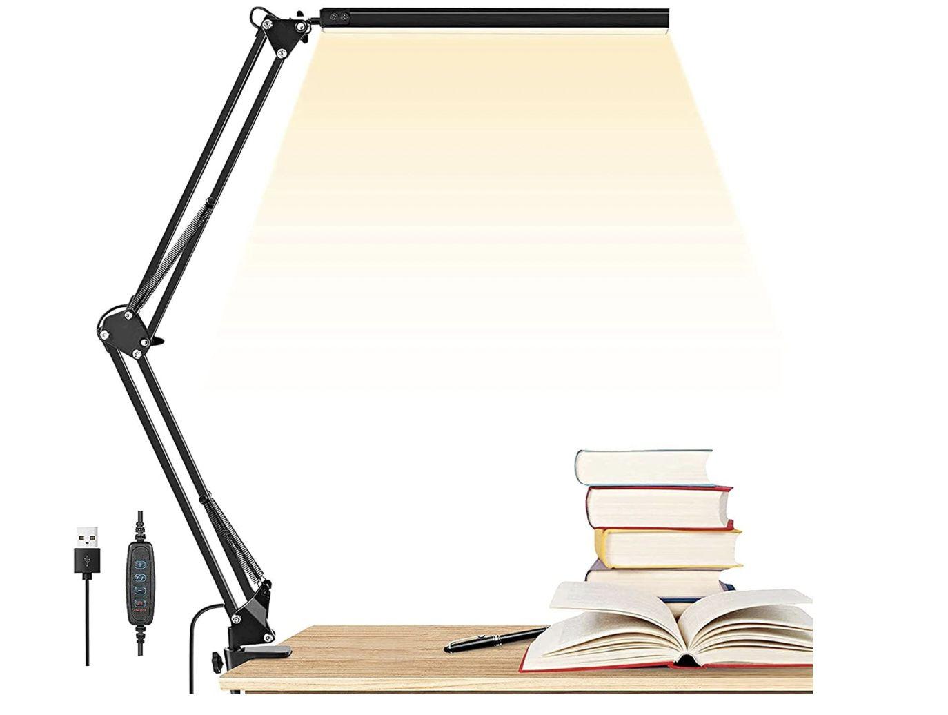 GUUKIN LED Schreibtischlampe mit 3 Farbtemperaturen und 10 Helligkeiten für 14,99€ (statt 25€)  prime
