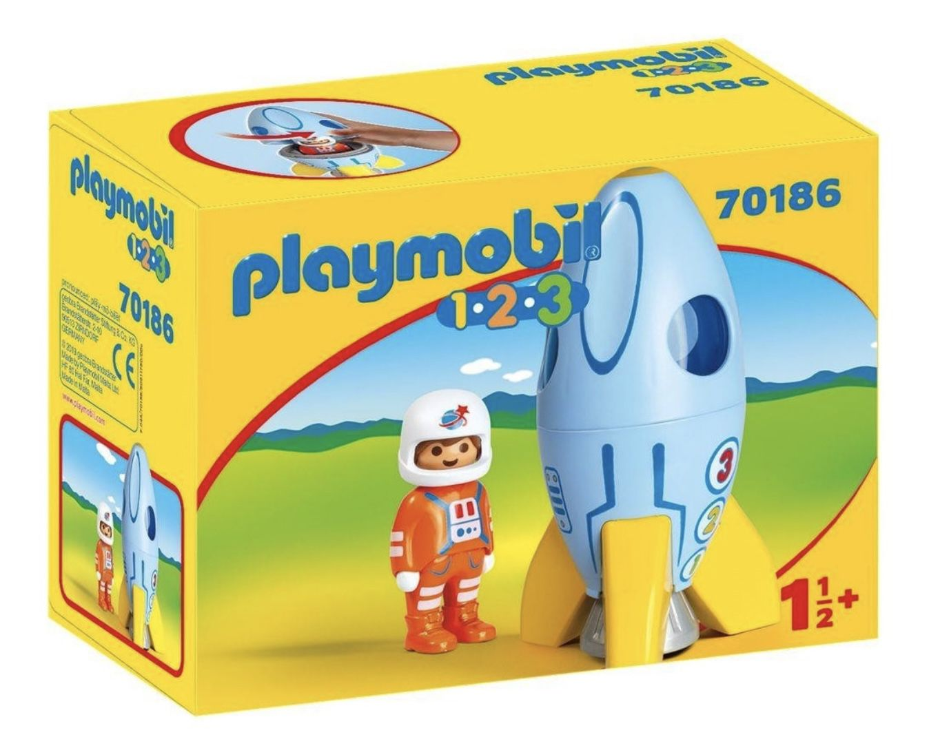 PLAYMOBIL 70186 1.2.3 Astronaut mit Rakete für 6,48€ (statt 10€)   Prime