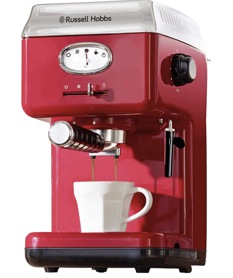 Russell Hobbs 28250 56 Espressomaschine in Retro Rot für 89,99€ (statt 102€)