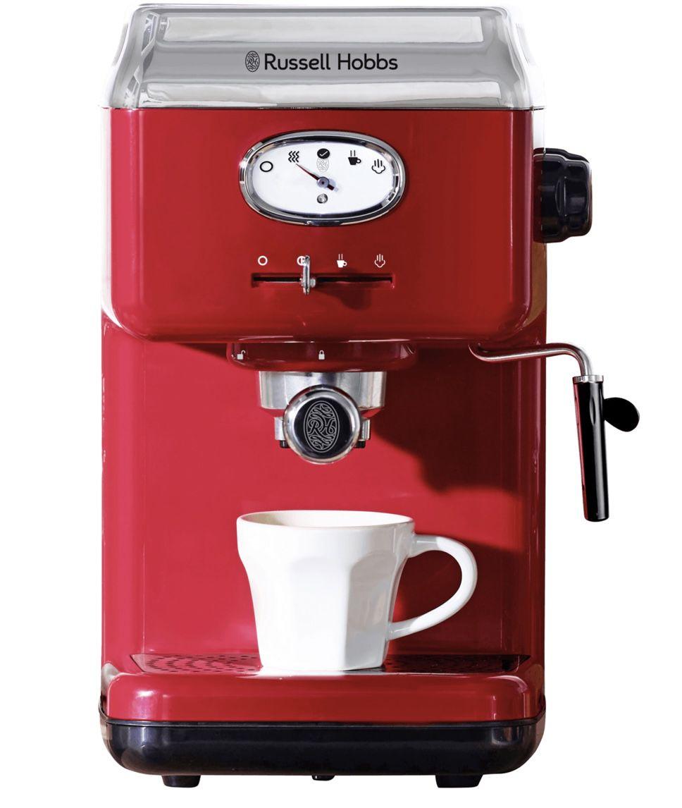 Russell Hobbs 28250-56 Espressomaschine in Retro-Rot für 69,99€ (statt 102€)