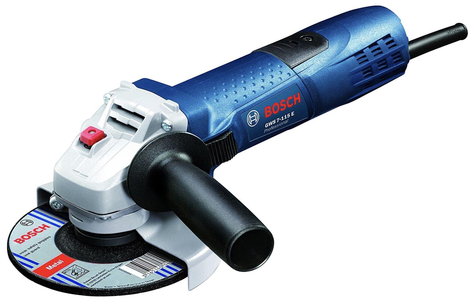 Bosch Professional GWS 7 115 E Winkelschleifer (720 Watt) mit 6 stufiger Drehzahlvorwahl und Wiederanlaufschutz für 51,22€ (statt 66€)