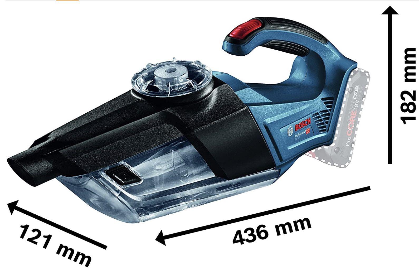 Bosch Professional GAS 18V 1 System Akku Handstaubsauger ohne Akkus/Ladegerät für 53,59€ (statt 65€)