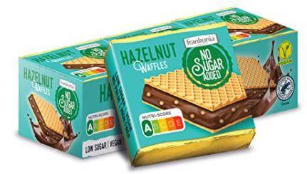 5x 9er Pack frankonia Chocolat Hazelnut Waffles ohne Zucker für 8,76€ (statt 15€)   Prime