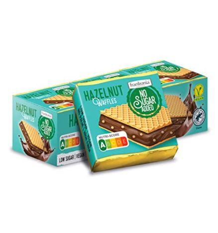 5x 9er Pack frankonia Chocolat Hazelnut Waffles ohne Zucker für 8,21€ (statt 15€) – Prime Sparabo
