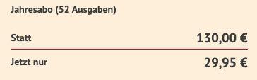 52 Ausgaben GONG für direkt reduzierte 29,95€ (statt 130€)