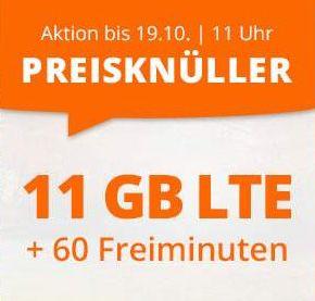 Sim.de: o2 Tarif mit 11GB LTE + 60 Freiminuten für 7,77€ mtl. – auch ohne Laufzeit buchbar