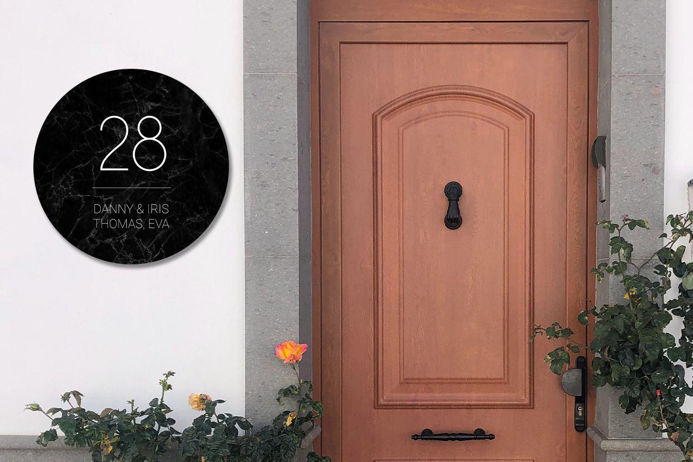 72% Rabatt auf personalisierte Aluminium Hausnummernschilder in verschiedenen Formen/Formaten