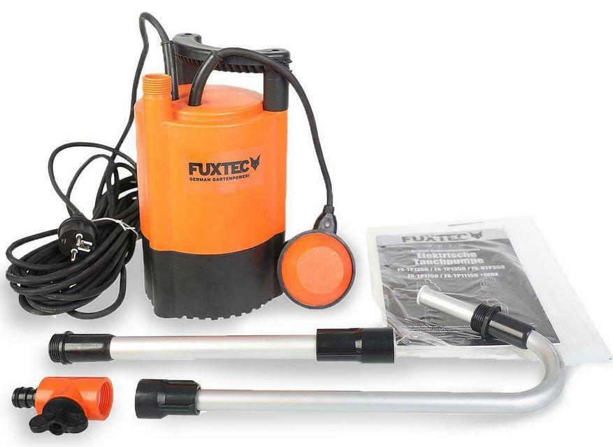 FUXTEC RTP350 Regenfasspumpe 5200 l/h für 44,91€ (statt 55€)