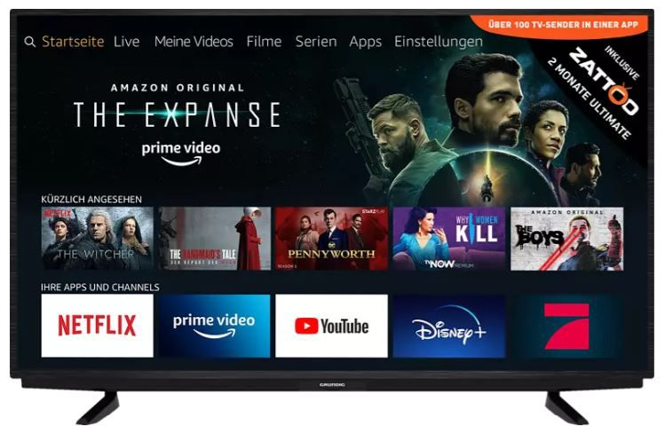 Pricedrop: Grundig 50 GUB 7022 FIRE TV EDITION LED TV mit 50/126cm für 349€ (statt 456€)