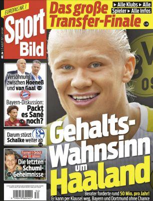 GRATIS! 25 Ausgaben Sport Bild ganz ohne Prämie (statt 70€)