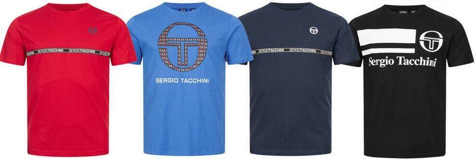 Sergio Tacchini Herren Rundhals T Shirts mit Logo Print für je 15,99€ (statt 24€)