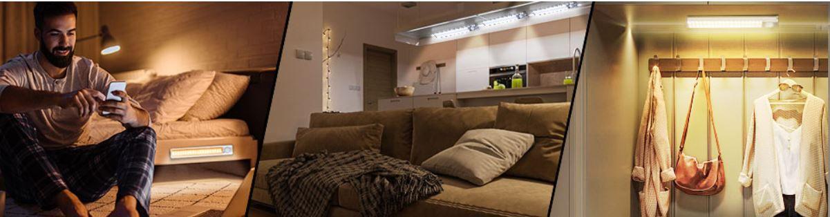 Kirupure 1800 mAh LED Schrankbeleuchtung mit Bewegungsmelder Doppelpack für 17,99€ (statt 36€)