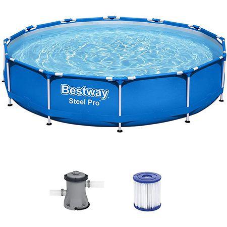 Bestway Steel Pro Frame Pool – 366 x 76 cm – Set mit Filterpumpe für 79,90€ (statt 112€)