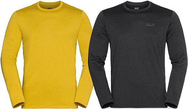 2x Jack Wolfskin SKY THERMAL LS T M Funktionsshirt in vielen Farben für 42,95€ (statt 60€)