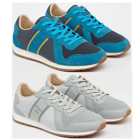 Superdry – Retro Runner Sneaker in Blau oder Grau für 40€ (statt 51€)