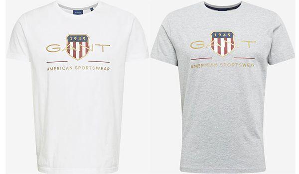 Gant   Baumwoll T Shirts in verschiedenen Farben ab 20,94€ (statt 40€)