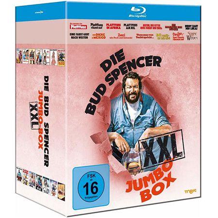 Bud Spencer Jumbo Blu-Ray Box XXL für 39,97€ (statt 60€) oder Plattfuss-Box für 14,97€ (statt 24€)