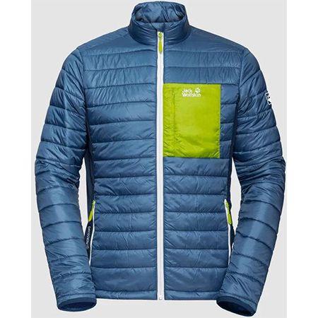 Jack Wolfskin – Routeburn Jacket M in Blau/Grün für 67,90€ (statt 83€)