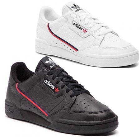 Adidas Continental 80 Sneaker in schwarz oder weiß für 59€ (statt 72€)