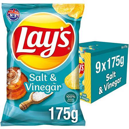 9 x 175g Lay's Salt & Vinegar Kartoffelchips für 10,79€ (statt 14€) – Sparabo