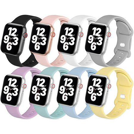 8er Pack: LovRug Silikon-Armbander für Apple Watch 38/40/42/44mm ab 8,39€ (statt 21€) – Prime