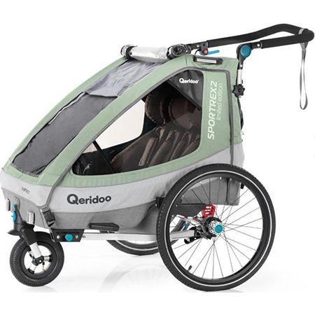 Qeridoo Kinderfahrradanhänger – Sportrex2 Limited Edition in Mint für 373,43€ (statt 450€)