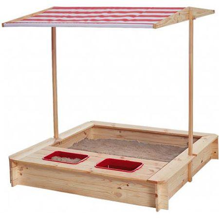 Sandkasten mit Wasser-Matsch-Bereich und Dach für 61,49€ (statt 78€)