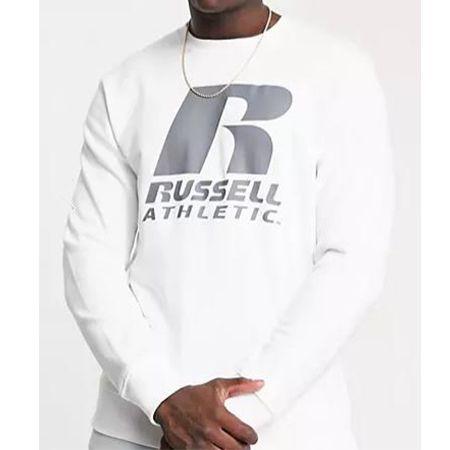 2x Russell Athletic – Pullover in Weiß mit R Logo für 40,72€ (statt 76€)