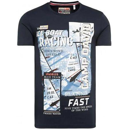 Camp David T Shirt mit Photo  und Puff Print in drei Farben für 22,95€ (statt 40€)