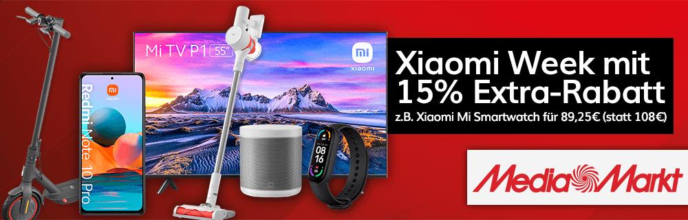 Xiaomi Week mit 15% Extra-Rabatt