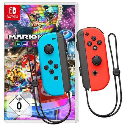 2er Set Nintendo Switch Joy Con Controller + Mario Kart 8 Deluxe für 90,29€ (statt 114€)