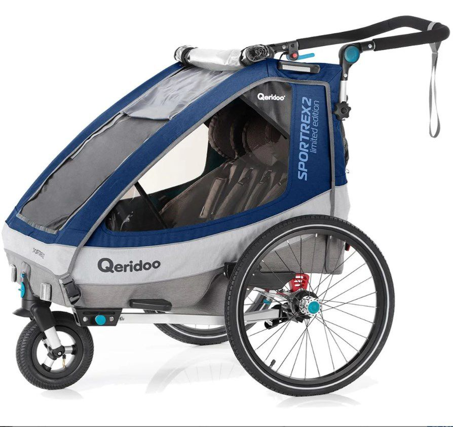 Qeridoo Kinderfahrradanhänger – Sportrex2 Limited Edition ab 349,00€ (statt 439€)
