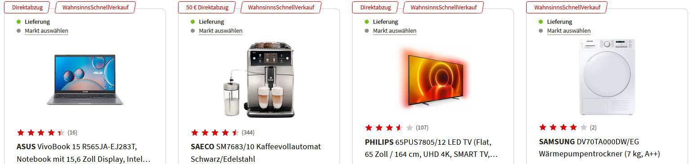 MediaMarkt WSV Aktion   z.B. Asus VivoBook 15R 15,6 Zoll Full HD Notebook für 519€ (statt 595€)