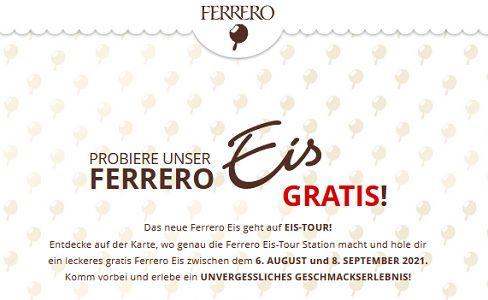 Gratis: Ferrero Eis geht auf EIS TOUR!