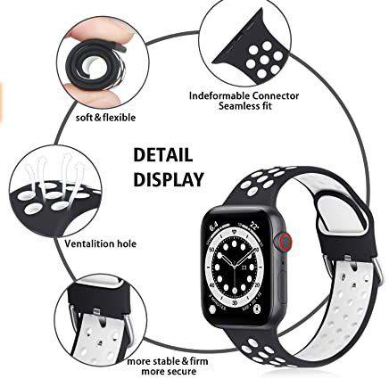6er Pack: RTYHI Silikonarmbänder in verschiedenen Farben für Apple Watch für 10,91€ (statt 26€)   Prime