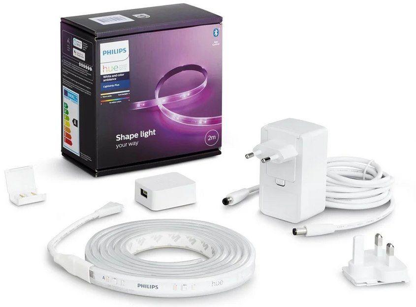 2x 2m Philips Hue LightStrip Plus Basis Set V4 + 1m Verlängerung für 120,39€ (statt 150€)
