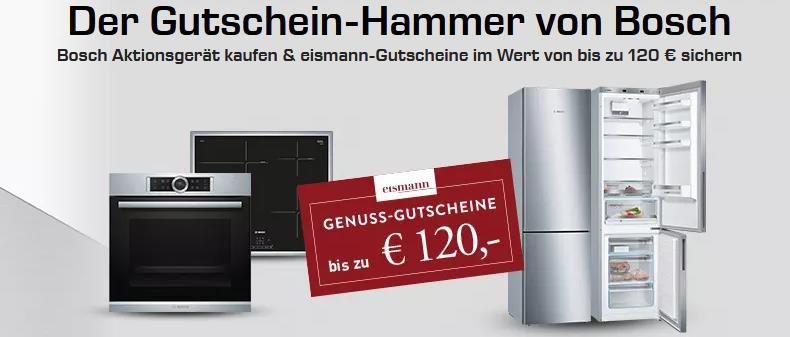 Saturn: Bosch Aktionsgerät kaufen und einen Eismann Gutscheine bis zu 120€ abstauben