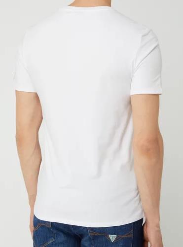 Guess Slim Fit T Shirt mit Logo in Weiß für 12,74€ (statt 18€)