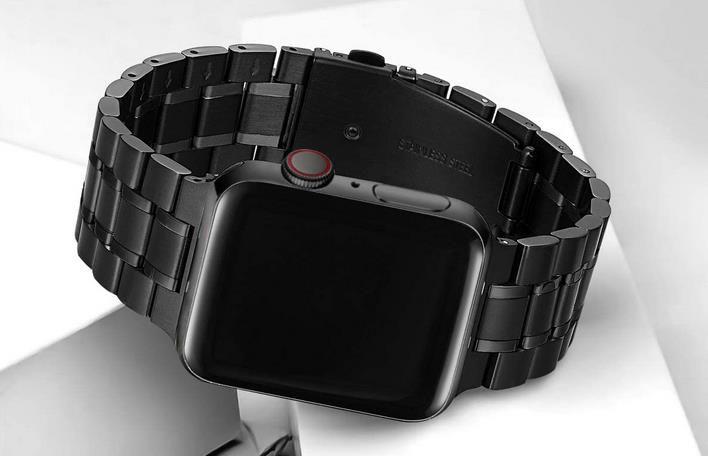 HEKAI Edelstahl Uhr Armbänder kompatibel zu Apple Watch z.B. 8,15€ (statt 20€)   Prime