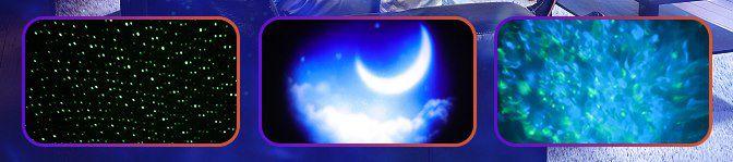 Mirapretty LED Sternenhimmel Projektor mit 3 Muster für 18,99€ (statt 30€)