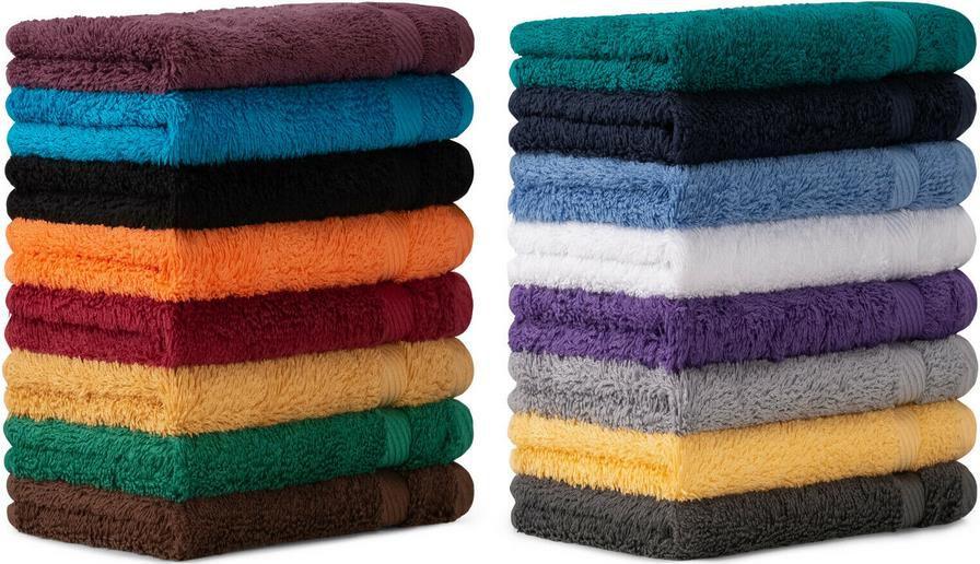10er Set Waschlappen in vielen verschiedenen Farben   30x30cm für 7,90€ (statt 12€)