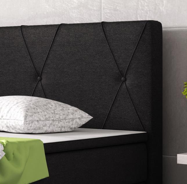 Boxspringbett Boston 180x200 cm in schwarz für 499,99€ (statt 554€)