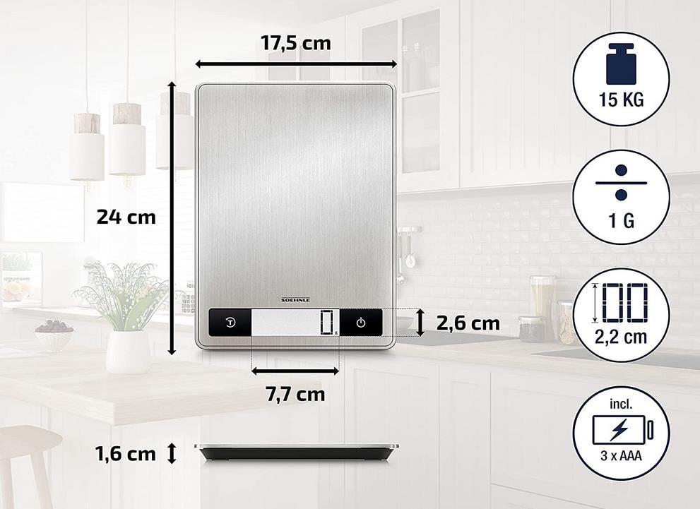 Soehnle Page Profi 200   digitale Küchenwaage aus Edelstahl für 17,83€ (statt 30€)