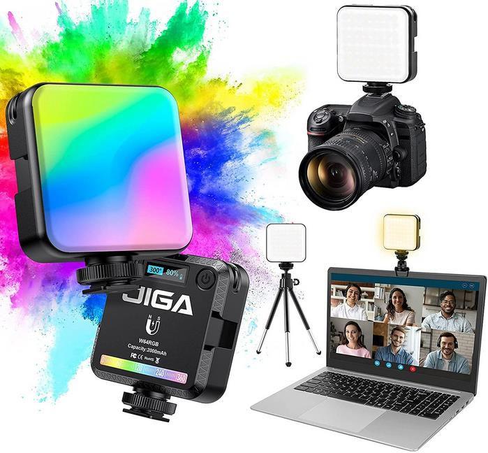 JIGA   tragbares Kamera Licht mit Stativ und Clip für 15,99€ (statt 20€)